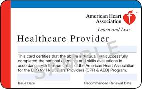 Replacement AHA certification card